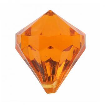 """6 diamants de déco """"Pierres précieuses colorées"""" - orange"""