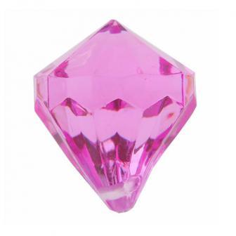 """6 diamants de déco """"Pierres précieuses colorées"""" - rose vif"""