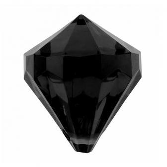 """6 diamants de déco """"Pierres précieuses colorées"""" - noir"""