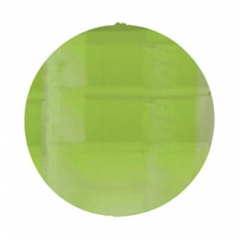 "6 gros strass ""Diamant rond"" - vert"