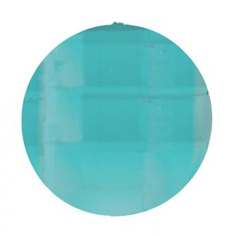 """6 gros strass """"Diamant rond"""" - turquoise"""