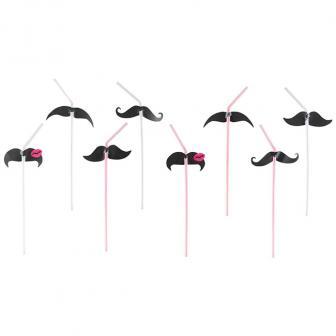 """8 pailles """"Petites moustaches"""""""