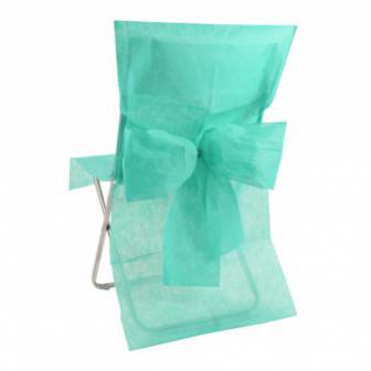10 housses de chaise avec noeud en intissé - vert menthe