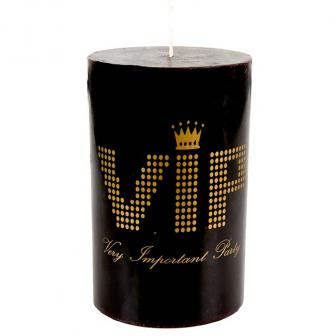 """Bougie cylindrique """"VIP - Very Important Party"""" 11 cm"""