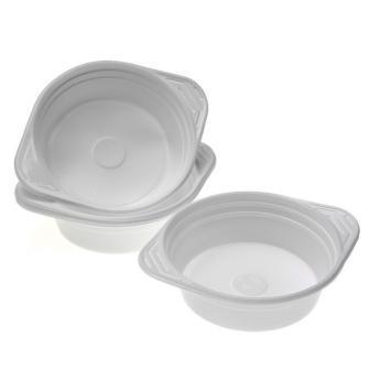 10 assiettes à soupe en plastique
