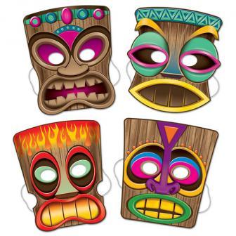 Masques Tiki 4 pcs