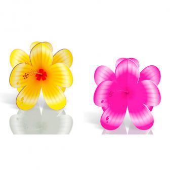 """4 présentoirs """"Fleurs d'hibiscus"""""""