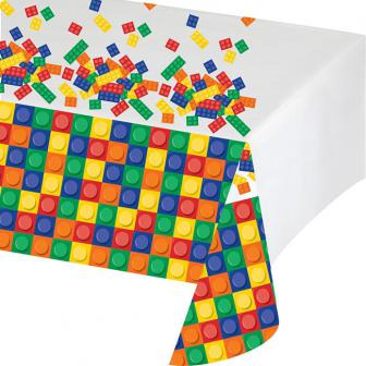 """Nappe """"Briques colorées"""" 137 x 259 cm"""
