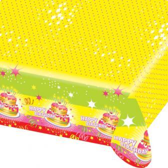 Nappe happy birthday kuchen 180 x 120 cm prix minis for Kuchen unterschrank 120 cm