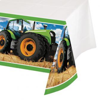 """Nappe """"Mon tracteur"""" 137 cm x 259 cm"""