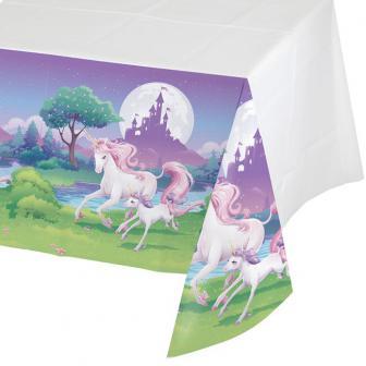 "Nappe ""Belle licorne"" 137 x 259 cm"