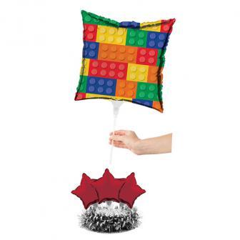 """Déco de table ballons en alu """"Briques colorées"""" 6 pcs."""