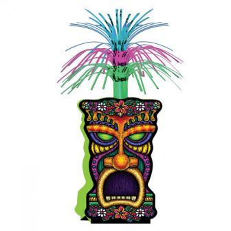 """Décoration de table fontaine """"Masque Tiki"""" 36 cm"""