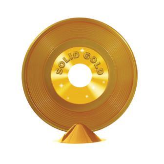 """Déco de table """"Disque d'or"""" 23 cm"""
