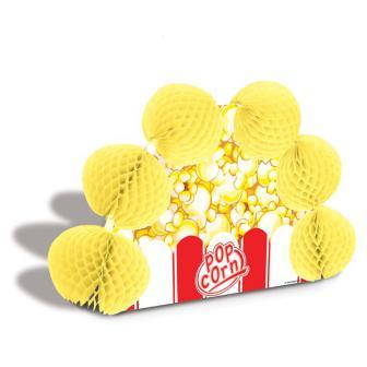 """Déco de table """"Sachet de pop-corn en papier crépon"""" 25 cm"""