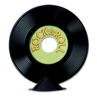 """Déco de table """"Disque Rock & Roll"""" 23 cm"""