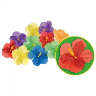 """Décoration de table Fleurs en soie """"Hibiscus"""" 24 pcs"""
