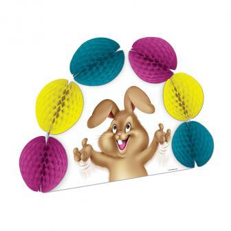 """Déco de table """"Œufs de Pâques colorés"""" avec papier crépon 25 cm"""