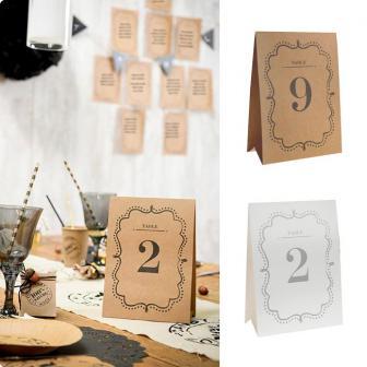 """Cartons de table """"Vintage"""" 1 - 10"""