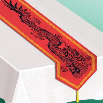 """Chemin de table """"Asie"""" avec gland 180 cm"""
