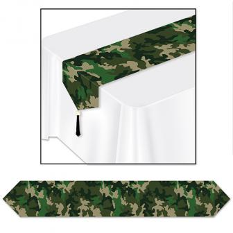"Chemin de table ""Camouflage"" 183 cm"