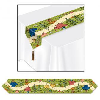 """Chemin de table """"Balade en pleine nature"""" 183 cm"""