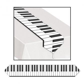 "Chemin de table ""Touches de piano"" 180 cm"