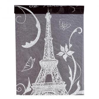 """Chemin de table  """"Tour Eiffel"""" 500 x 28 cm"""