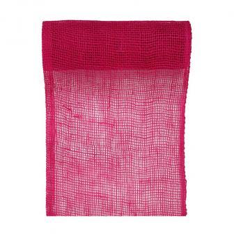 """Chemin de table """"Ambiance rustique"""" 5 m - rose vif"""