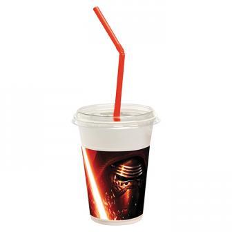 "12 gobelets à paille ""Star Wars 7"""