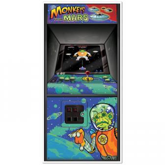 """Déco de porte """"Jeu d'arcade"""" 1,5 m"""