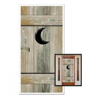 """Déco de porte """"WC à l'ancienne"""" 152 cm"""