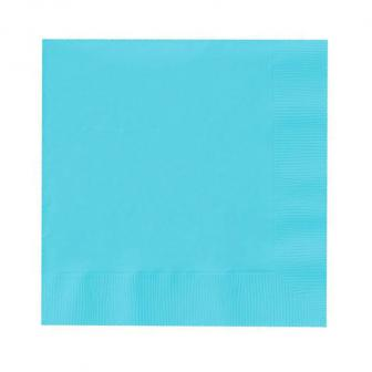 20 serviettes unies - turquoise