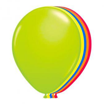"""8 ballons colorés fluorescents UV """"Neon"""""""