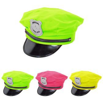 Casquette de police fluo UV