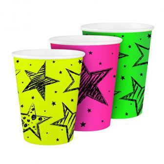"6 Gobelets lampe UV ""Neon"""