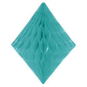 Diamant en papier alvéolé 30 cm - vert menthe