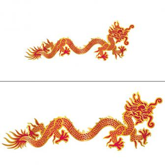 "Déco murale ""Dragon chinois"""