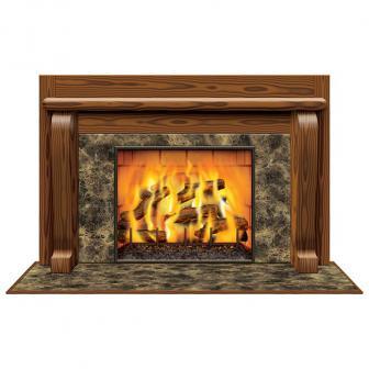 """Déco de salle """"Feu de cheminée"""" 160 x 97 cm"""