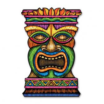 "Déco murale ""Grand masque Tiki"" 93 cm"