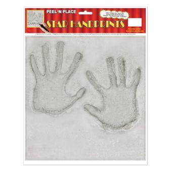 """Déco de salle autocollante """"Empreintes de mains"""" 29,5 cm"""
