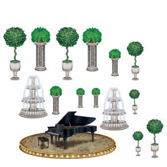 """Déco murale """"Piano"""" 118 cm 15 pcs"""