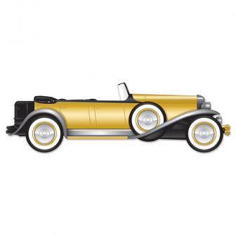 """Déco murale roadster """"Golden 20ies"""" 1,30 m"""