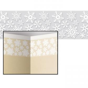 """Déco murale """"Flocons de neige"""" 9,14 x 0,61 m"""