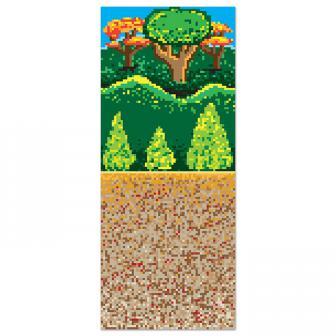 """Déco murale """"Forêt pixéllisée"""" 1,22 x 9,14 m"""