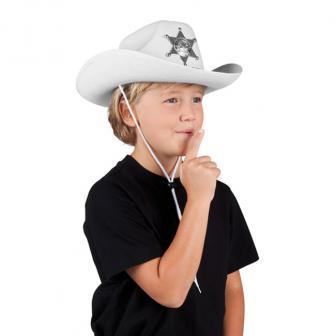 """Chapeau blanc pour enfant """"Cowboy"""""""