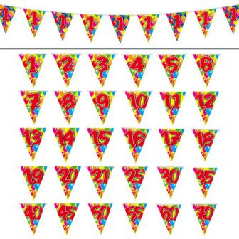 """Guirlande de fanions """"Happy Birthday Ballons Multicolores"""" 10 m - 50"""