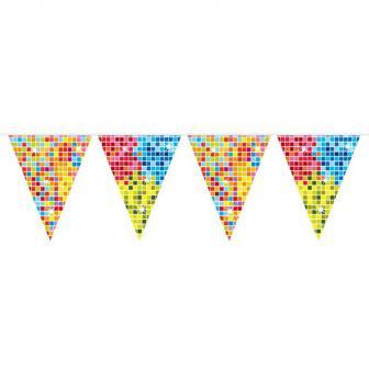 """Guirlande de fanions """"Happy Crazy Party"""" 6 m"""