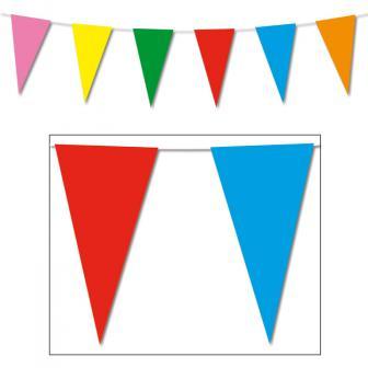 Guirlande de fanions multicolores en papier 10 m