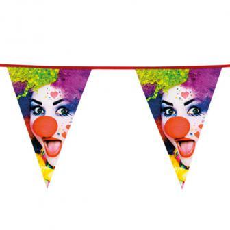 """Guirlande à fanions """"Clown coloré"""" 6 m"""